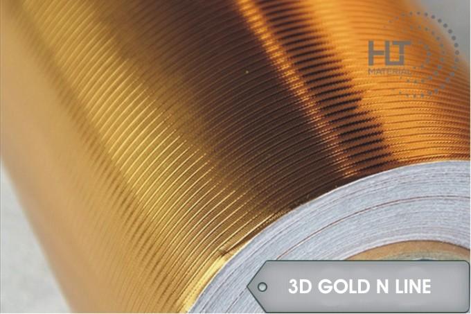 STICKER 3D GOLD N LINE