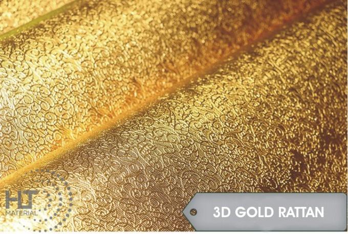 STICKER 3D GOLD RATTAN