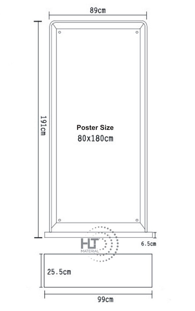 BANNER STAND OUTDOOR 80X180CM 4
