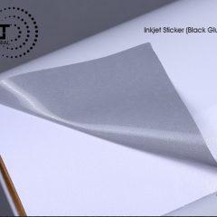 INKJET STICKER WHITE (BLACK GLUE ) M