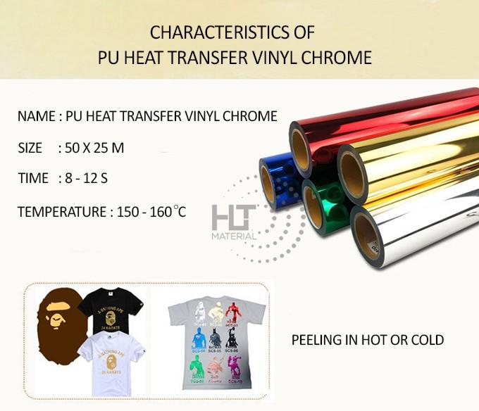 PU HEAT TRANSFER VINYL CHROME 2