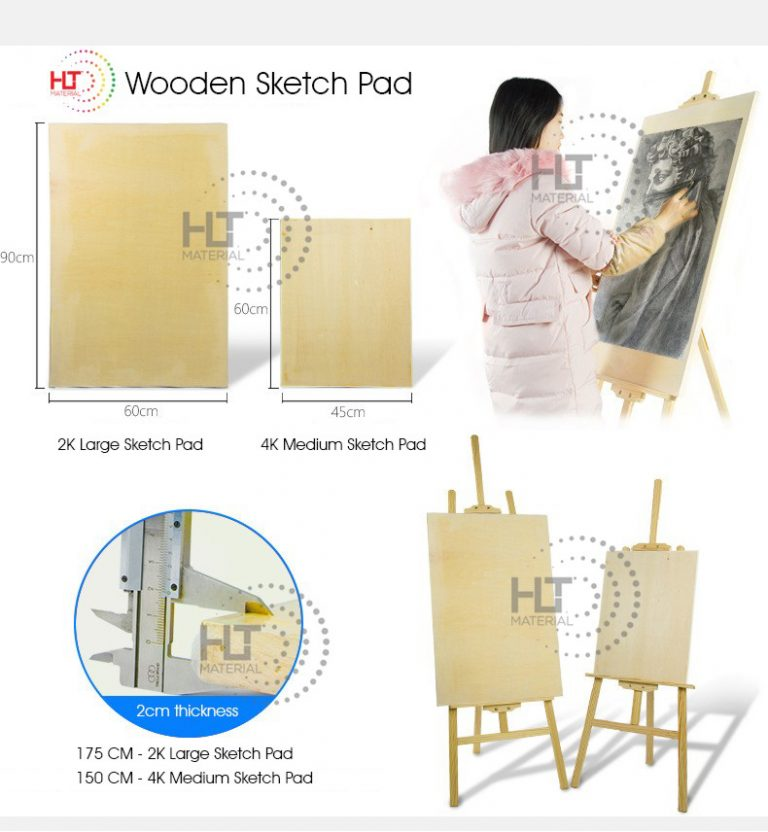 WOODEN SKETCHING DRAWING BOARD 4
