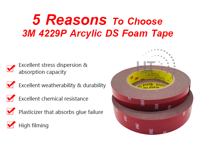 3M 4229P ACRYLIC DS FOAM TAPE 6