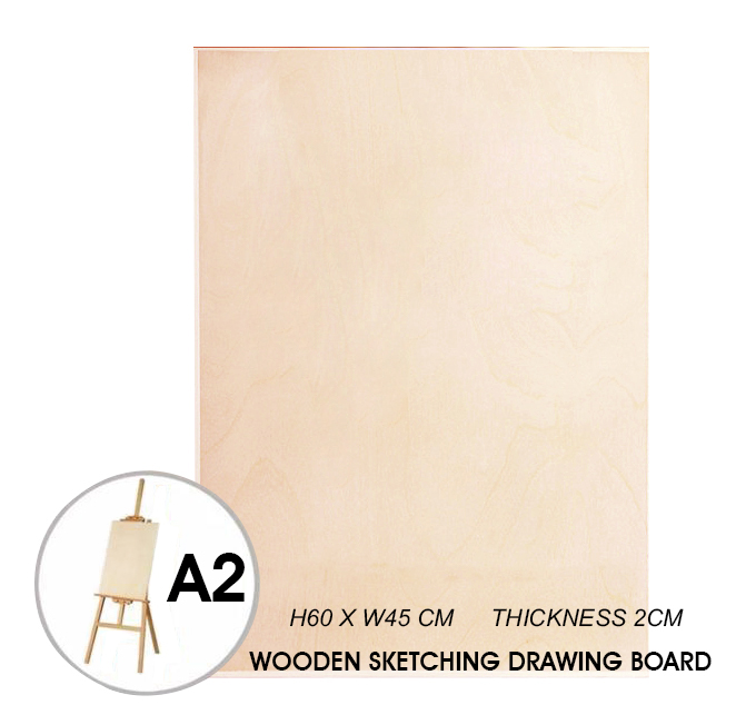 A2 WOODEN SKETCH DRAWING BOARD