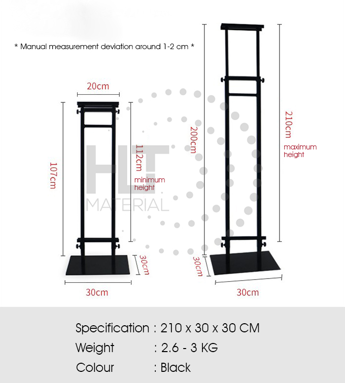 ADJUSTABLE HEIGHT POSTER STAND 1