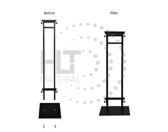 ADJUSTABLE HEIGHT POSTER STAND 2