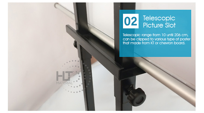ADJUSTABLE HEIGHT POSTER STAND 2B