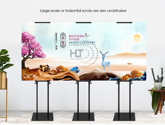ADJUSTABLE HEIGHT POSTER STAND 3