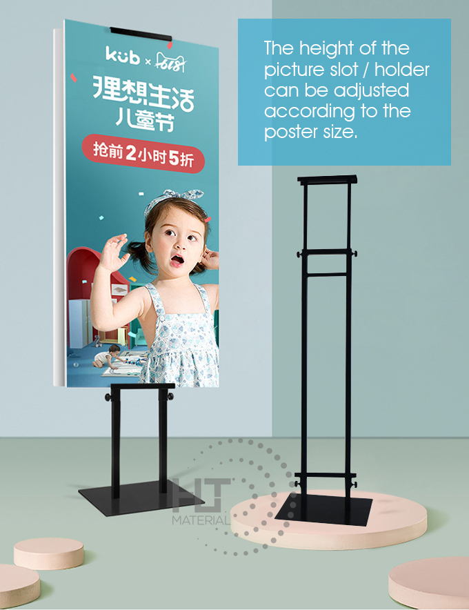 ADJUSTABLE HEIGHT POSTER STAND M