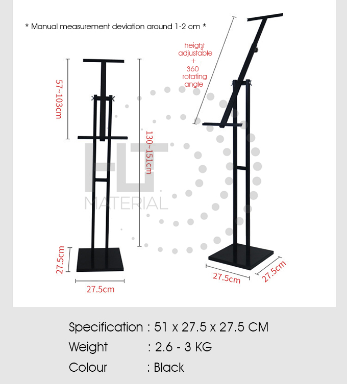 ADJUSTABLE ROTATING POSTER STAND 1
