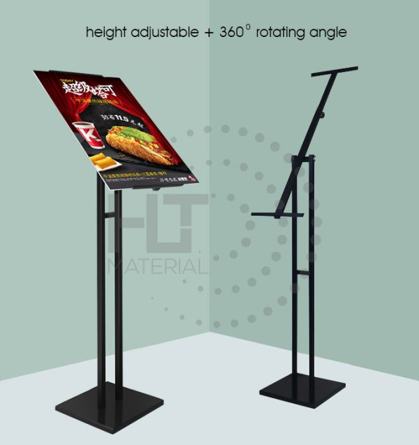 ADJUSTABLE ROTATING POSTER STAND M