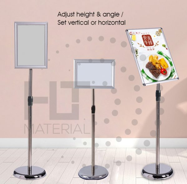 STAINLESS STEEL A4 DISPLAY STAND 1+