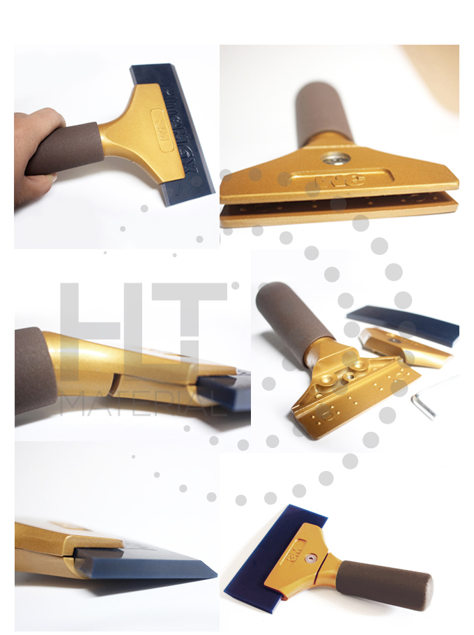 ALUMINUM GOLD HANDLE SCRAPER