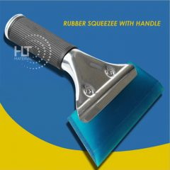 RUBBER SQUEEGEE WITH HANDLE