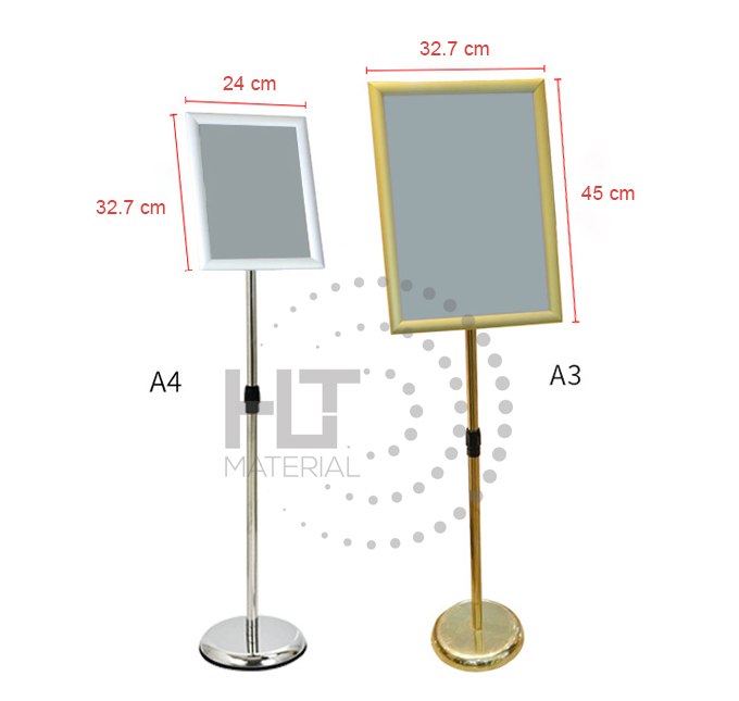 STAINLESS STEEL A3 & A4 DISPLAY STAND