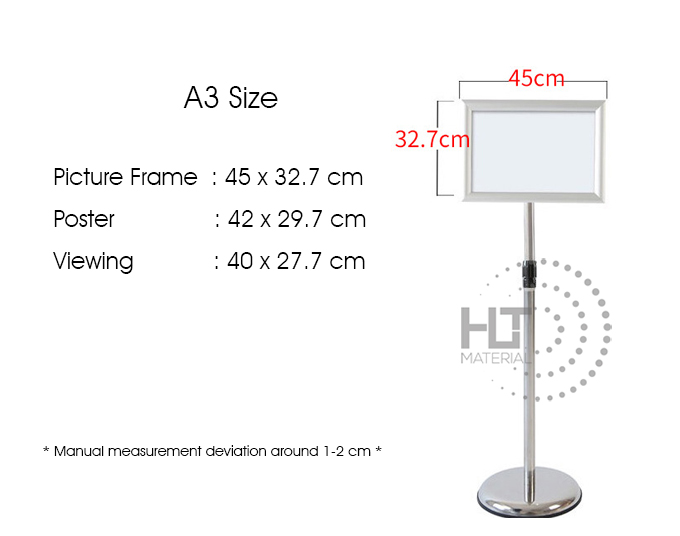 STAINLESS STEEL A4 DISPLAY STAND 9B